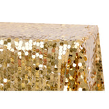 "Large Payette Sequin Tablecloth 90""x132"" Rectangular - Gold"