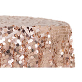 "Large Payette Sequin Round 120"" Tablecloth - Blush/Rose Gold"