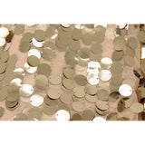 "Large Payette Sequin 132"" Round Tablecloth - Champagne"