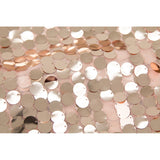 "Large Payette Sequin 132"" Round Tablecloth - Blush/Rose Gold"