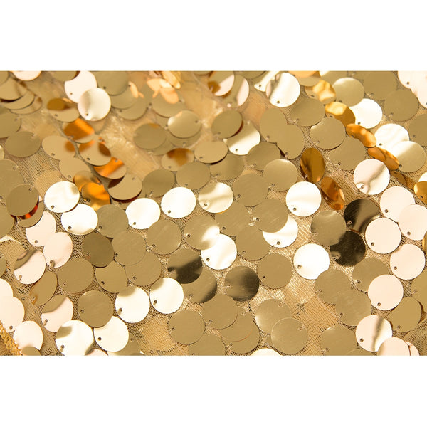 Large Payette Sequin 132 Quot Round Tablecloth Gold Cv Linens