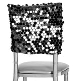"Payette Sequin Chiavari Chair Cap 16""W x 14""L - Black"
