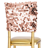 "Payette Sequin Chiavari Chair Cap 16""W x 14""L - Blush/Rose Gold"
