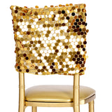 "Payette Sequin Chiavari Chair Cap 16""W x 14""L - Gold"