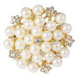 Pearl and Diamond Cluster Napkin Ring - Gold