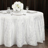 "Pintuck 120"" Round Tablecloth - White"