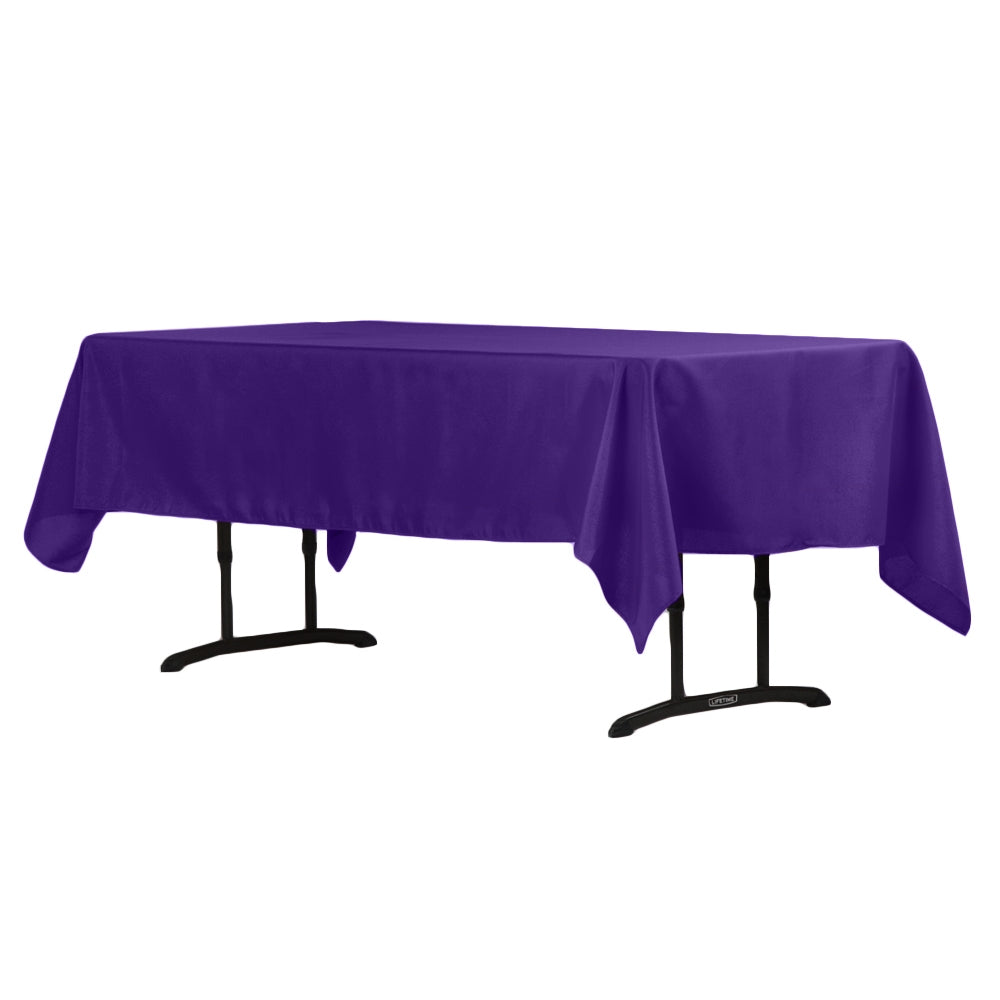 "60""x102"" Rectangular Polyester Tablecloth - Purple"