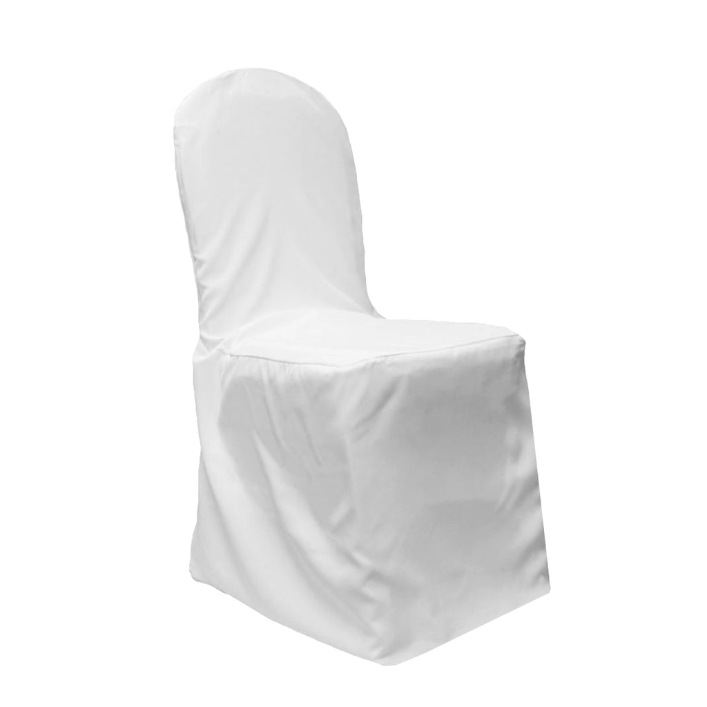 Economy Polyester Banquet Chair Cover - White