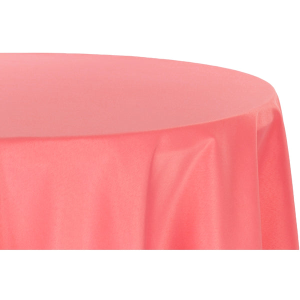 Polyester 108 Inch Round Tablecloth Coral At Cv Linens