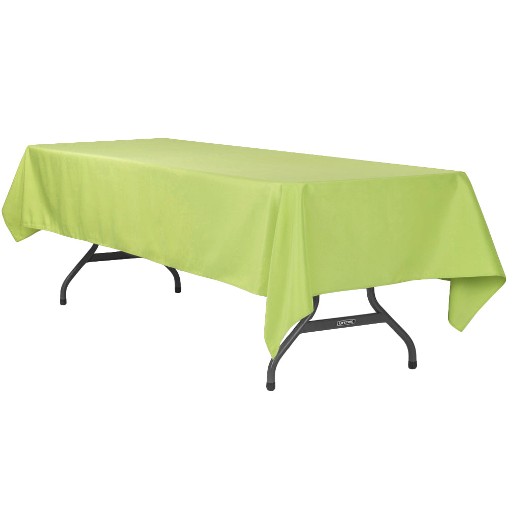 "60""x120"" Rectangular Polyester Tablecloth - Apple Green"