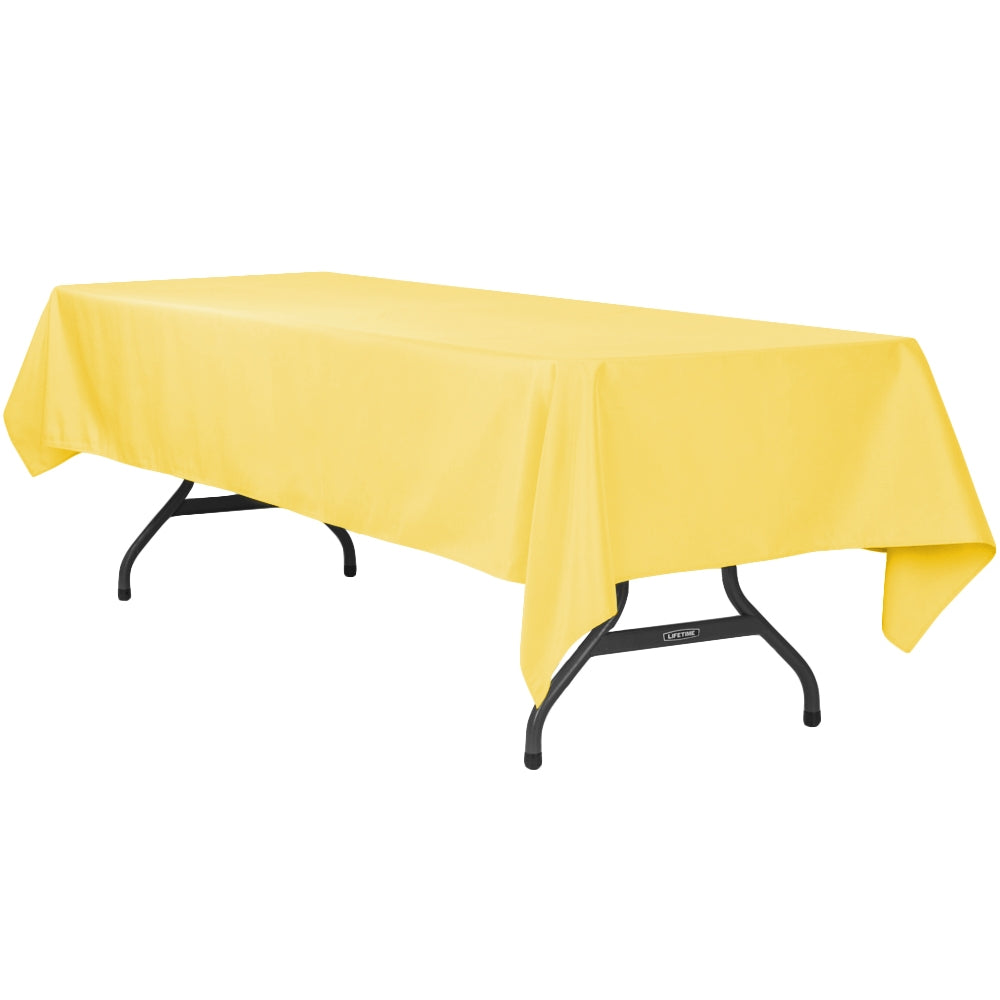 "60""x120"" Rectangular Polyester Tablecloth - Canary Yellow"