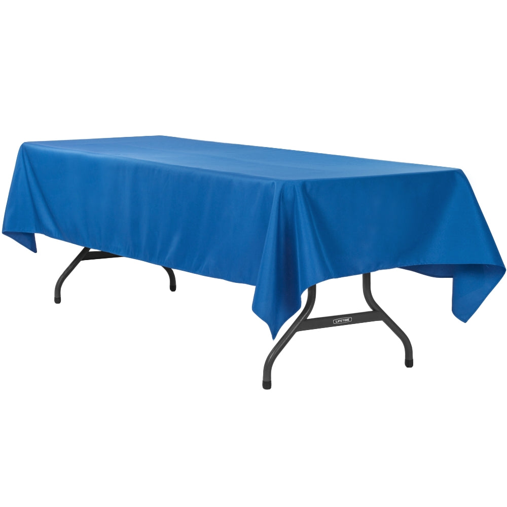 "60""x120"" Rectangular Polyester Tablecloth - Royal Blue"