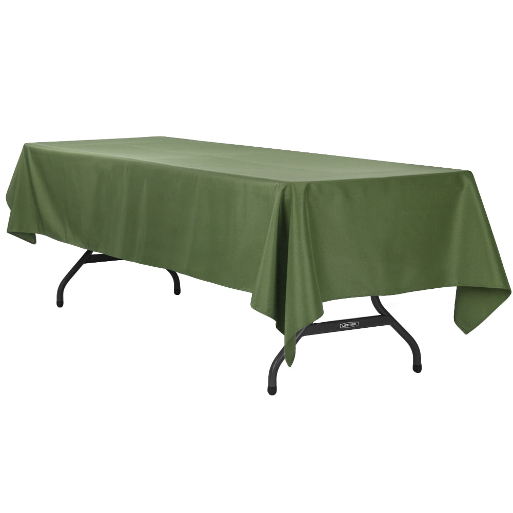 "60""x120"" Rectangular Polyester Tablecloth - Willow Green"