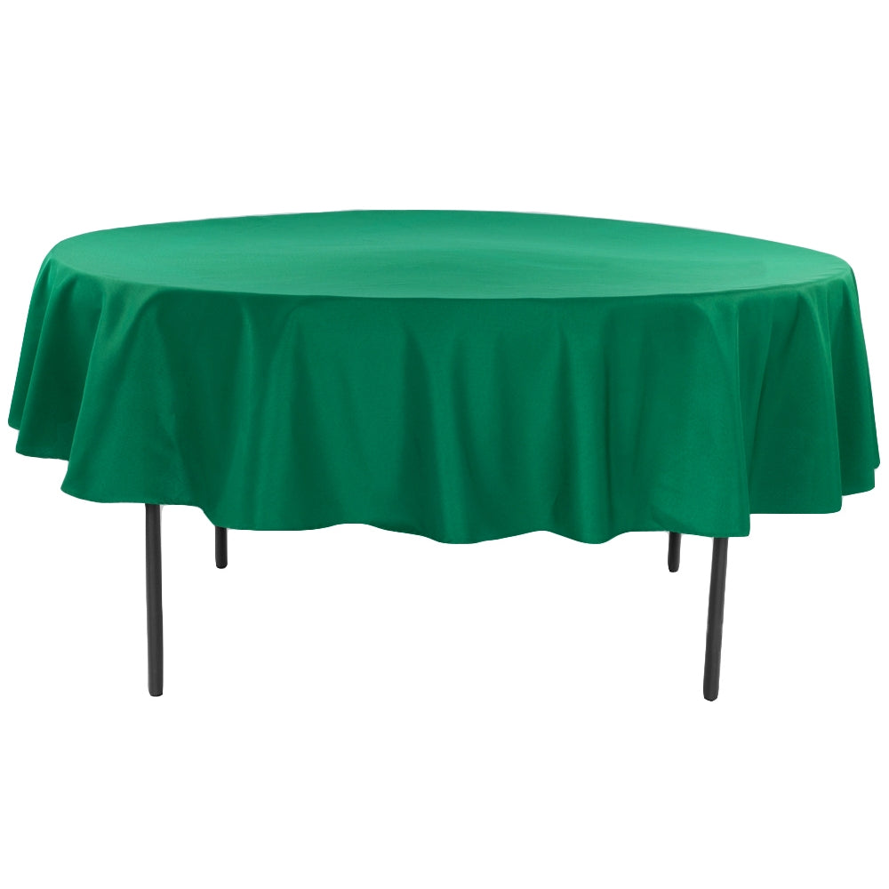 "Polyester 90"" Round Tablecloth - Emerald Green"