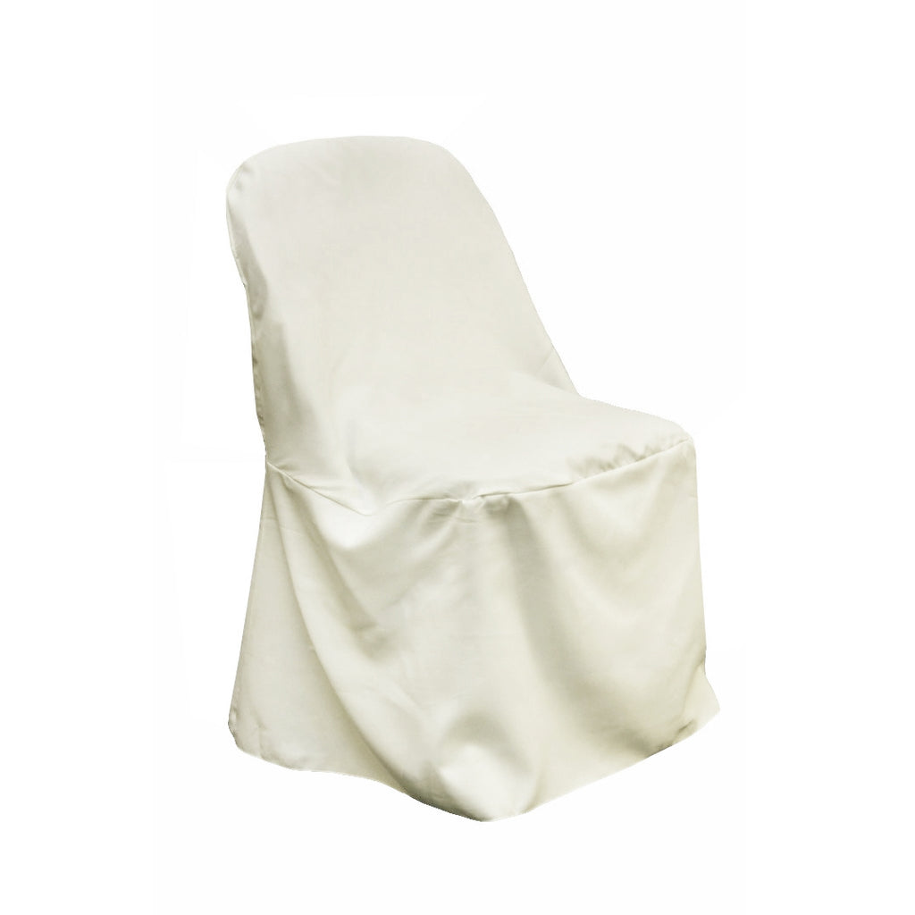 Tremendous Polyester Folding Chair Cover Light Ivory Off White Gmtry Best Dining Table And Chair Ideas Images Gmtryco