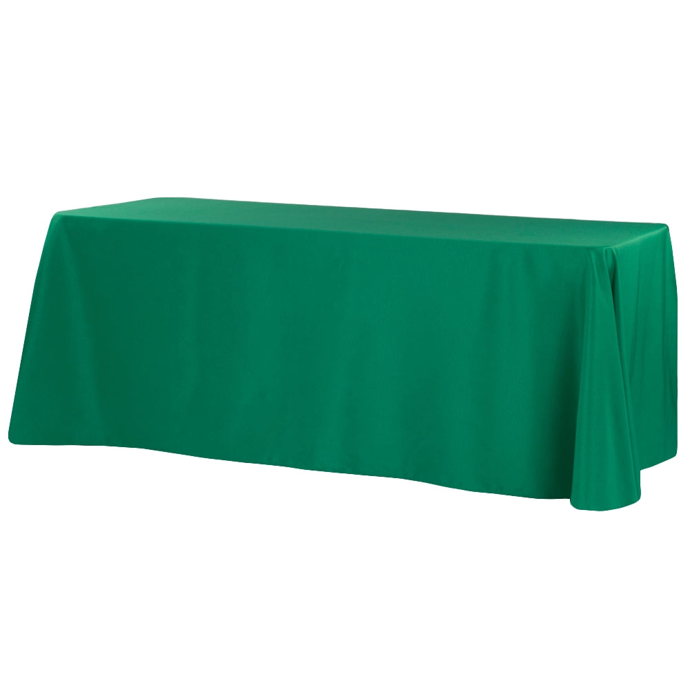 "90""x156"" Rectangular Oblong Polyester Tablecloth - Emerald Green"