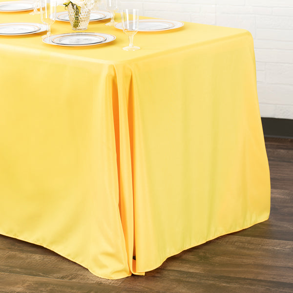 90 Quot X156 Quot Rectangular Oblong Polyester Tablecloth Canary