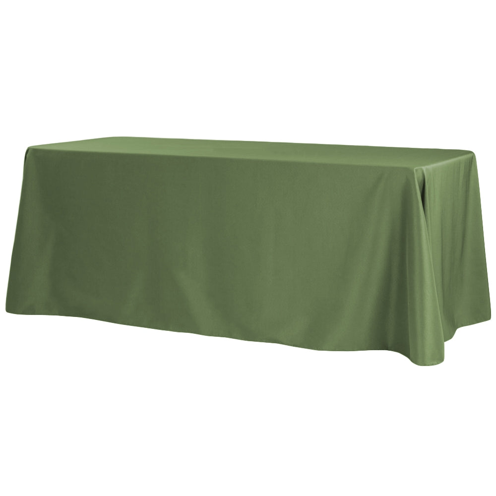 "90""x156"" Rectangular Oblong Polyester Tablecloth - Willow Green"