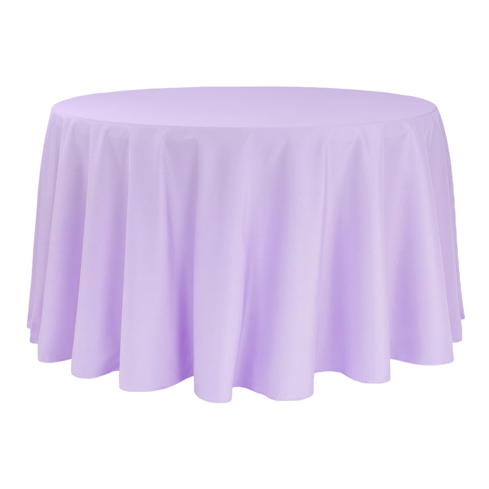 "Round Polyester 132"" Tablecloth - Lavender"