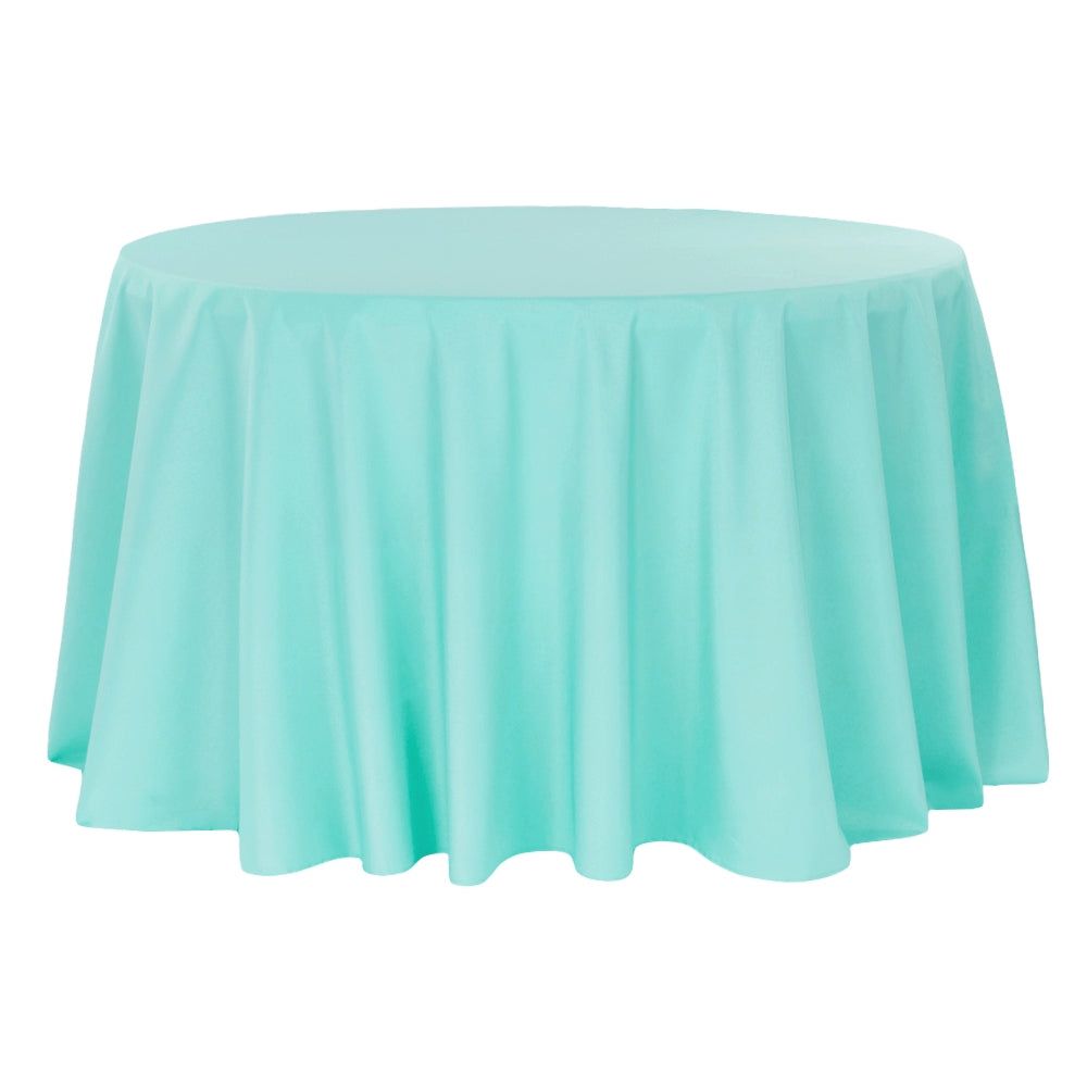 "Polyester 120"" Round Tablecloth - Turquoise"