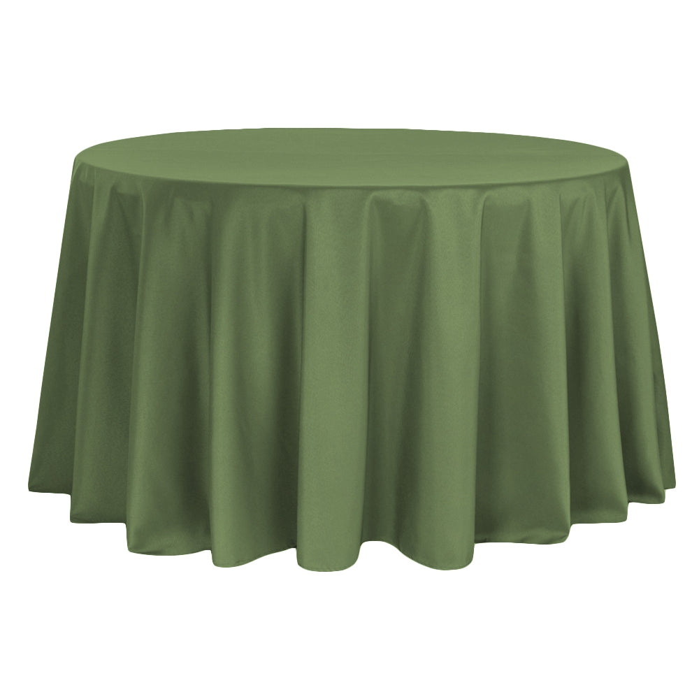 "Polyester 108"" Round Tablecloth - Willow"