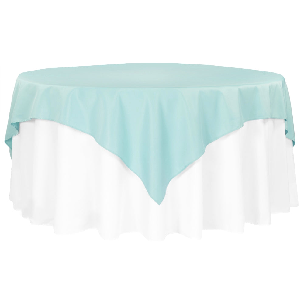 "Polyester Square 72"" Overlay/Tablecloth - Turquoise"