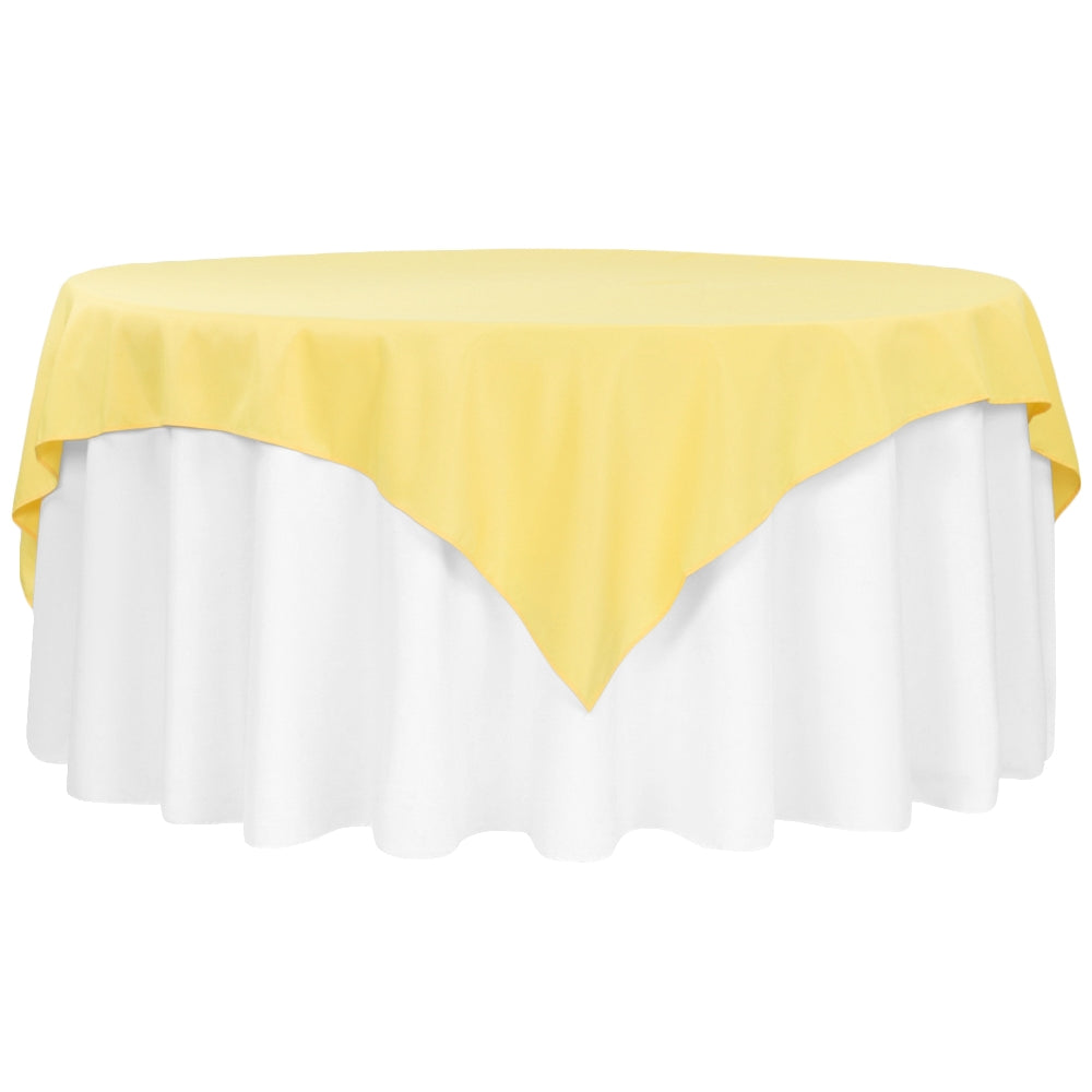 "Polyester Square 72"" Overlay/Tablecloth - Canary Yellow"