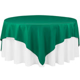 "Polyester Square 90""x90"" Overlay/Tablecloth - Emerald Green"