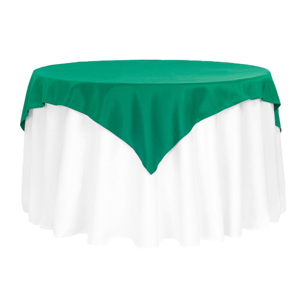 "Polyester Square 54"" Overlay/Tablecloth - Emerald Green"