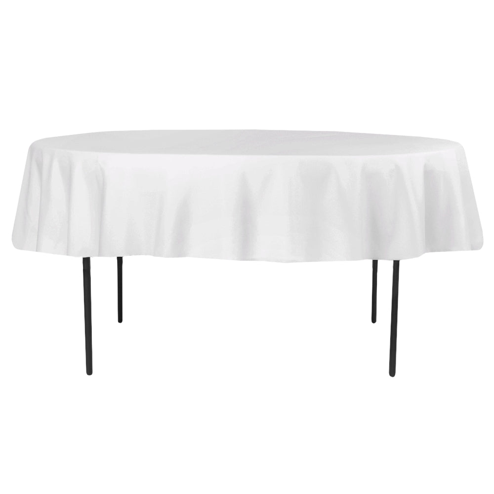 "Polyester 90"" Round Tablecloth - White"