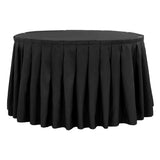 Polyester 17ft Table Skirt - Black