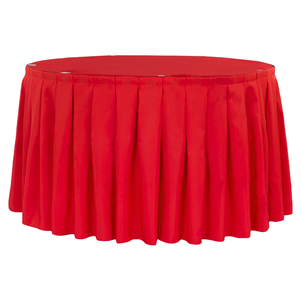 Polyester 14ft Table Skirt - Red