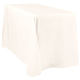 "90""x108"" Rectangular Oblong Polyester Tablecloth - Ivory"
