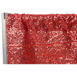 "Glitz Sequin 8ft H x 52"" W Drape/Backdrop panel - Red"