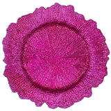 Reef Acrylic Plastic Charger Plate - Fuchsia