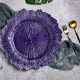 Reef Acrylic Plastic Charger Plate - Purple