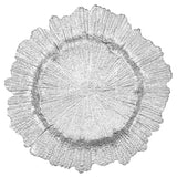 Reef Glass Charger Plate - Silver