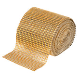 Rhinestone Mesh Roll (30ft) - Gold