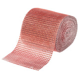 Rhinestone Mesh Roll (30ft) - Rose Gold