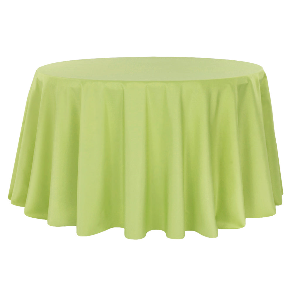 "Round Polyester 132"" Tablecloth - Apple Green"