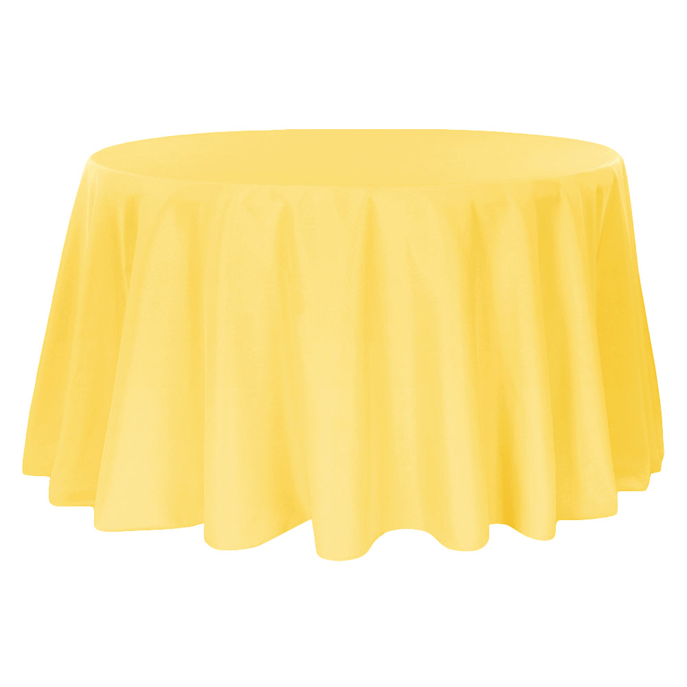 "Polyester 120"" Round Tablecloth - Canary Yellow"