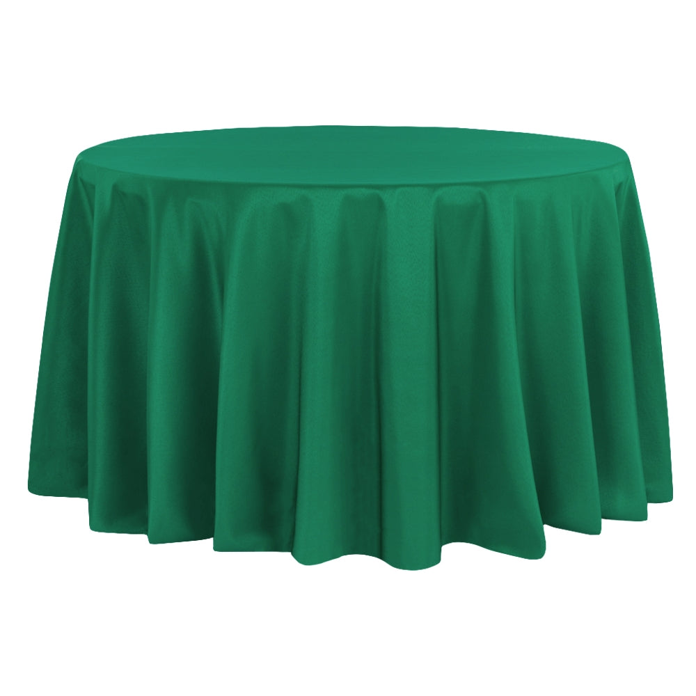 "Polyester 120"" Round Tablecloth - Emerald Green"