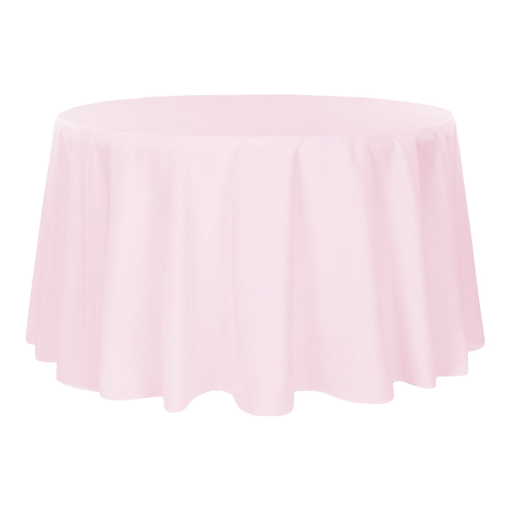 "Polyester 120"" Round Tablecloth - Pastel Pink"