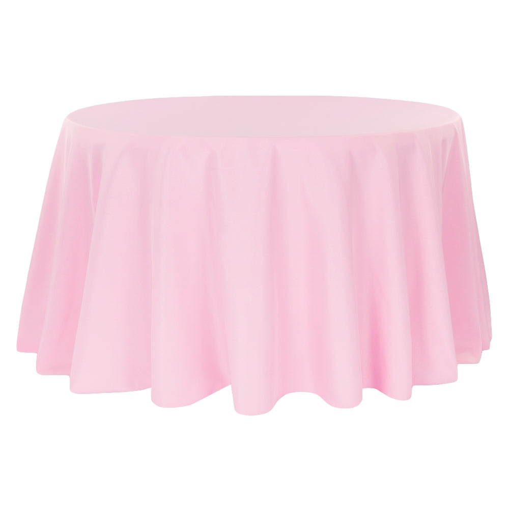 "Economy Polyester Tablecloth 108"" Round - Pink"