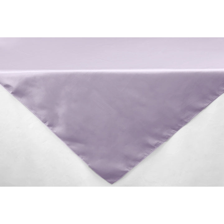 "Square 54"" Satin Table Overlay - Lavender"