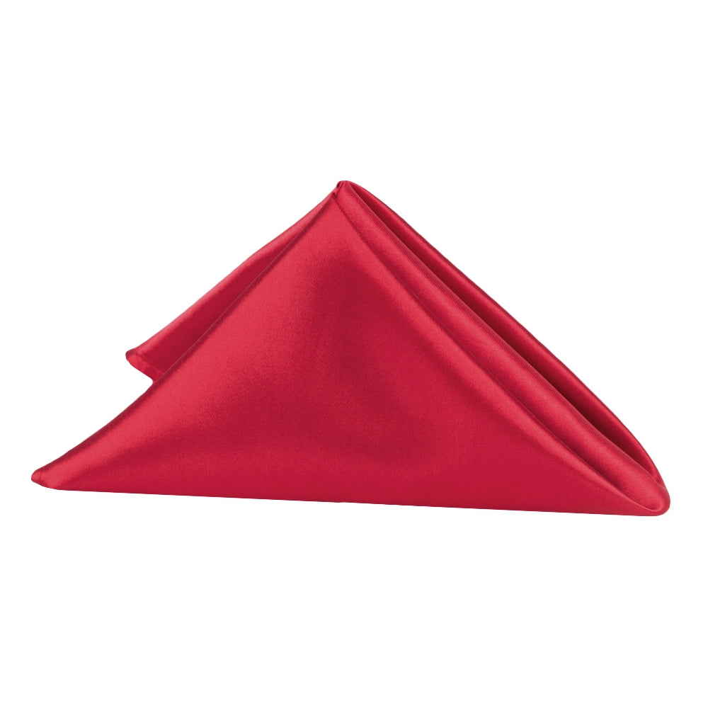 "Satin Napkin 20""x20"" - Apple Red"