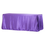 "Satin Rectangular 90""x132"" Tablecloth - Purple"