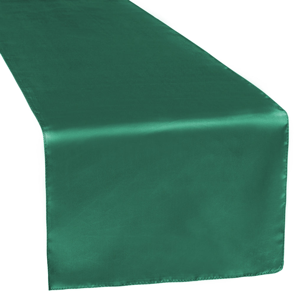 Satin Table Runner - Emerald Green