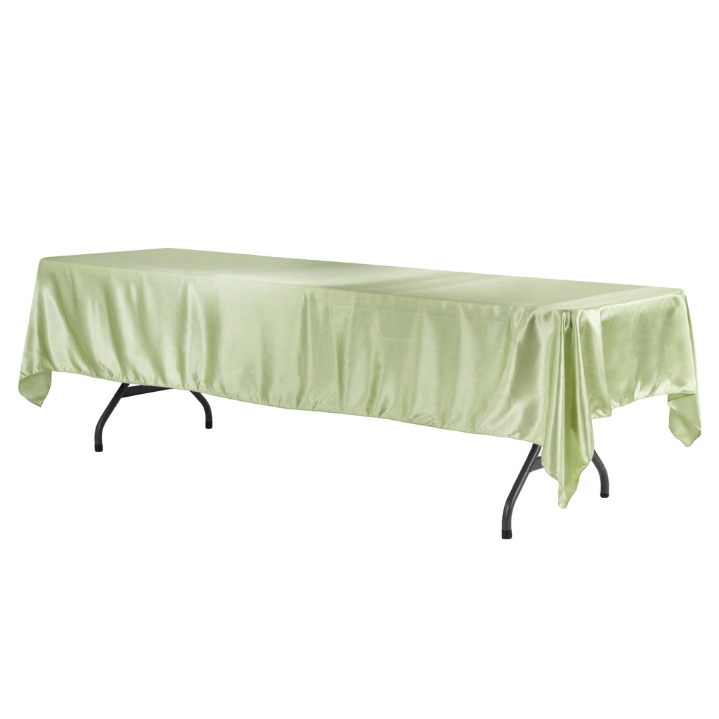 "Satin Rectangular 60""x120"" Tablecloth - Sage Green"