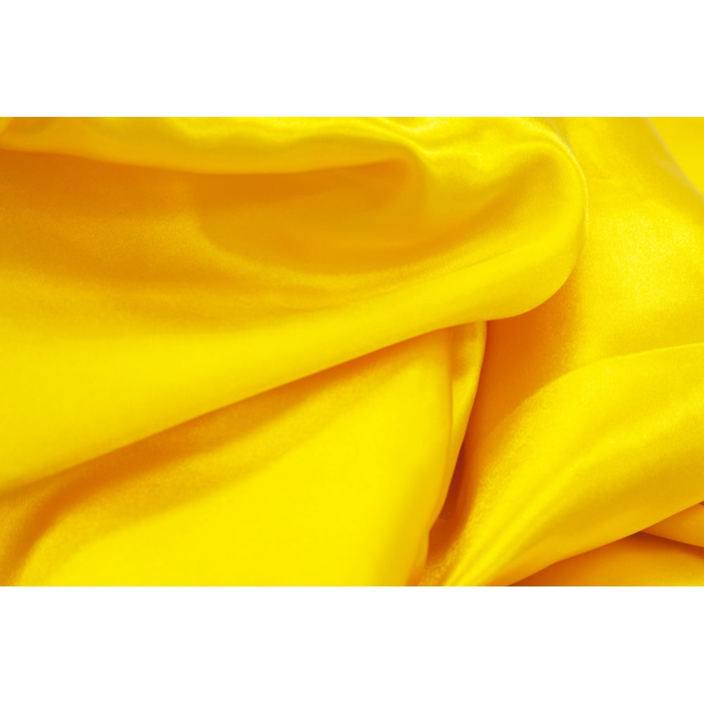 "Square 90""x90"" Satin Table Overlay -  Canary Yellow (Bright Yellow)"